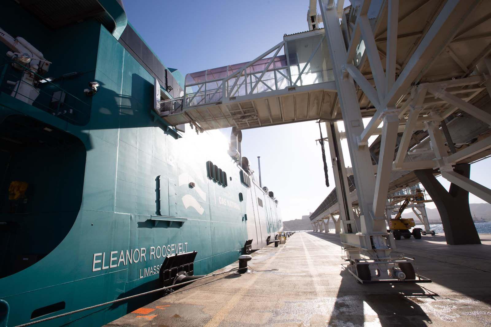 Inauguración del nuevo barco de Baleària, Eleonor Roosevelt.