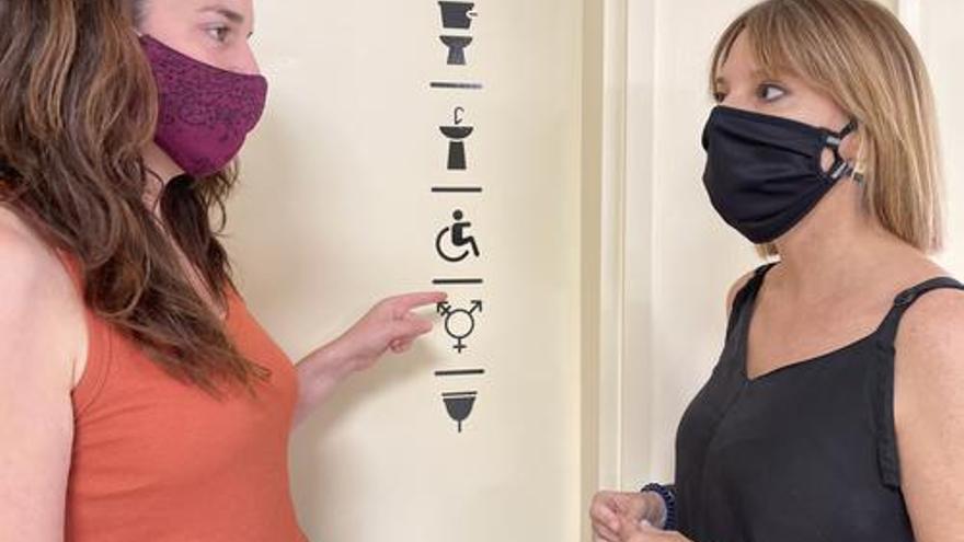 Canvis en la senyalització dels lavabos públics de Manresa per fer-los més inclusius