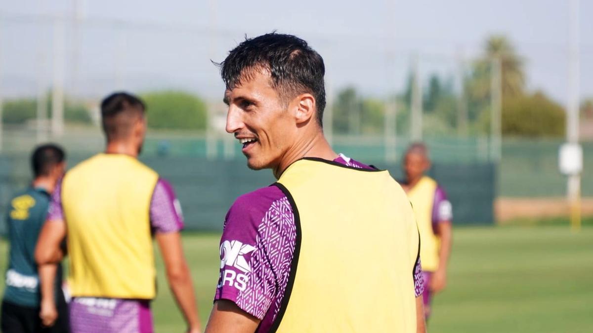 Ante Budimir durante un entreno con el Mallorca.