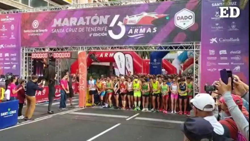 Salida de la Maratón (42km) y Media Maratón (21km) de Santa Cruz