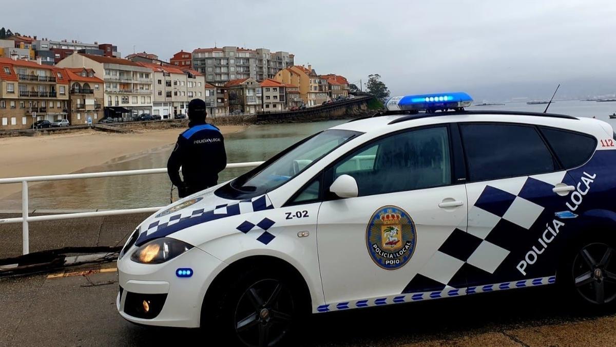 Imagen de archivo de la Policía Local de Pontevedra, en Poio.