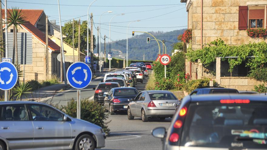 Comienza la mejora de la conexión entre la vía rápida y Sanxenxo con desvíos de tráfico