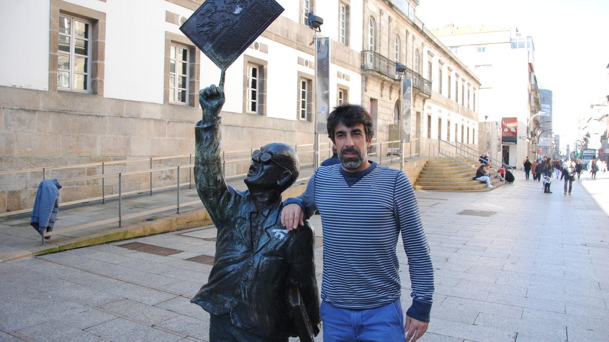 Óscar Bruzon, en una visita a Vigo.