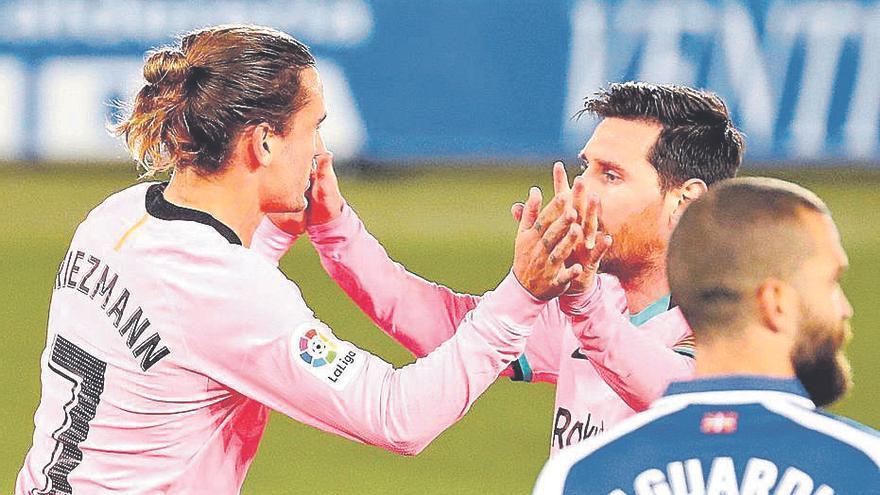 Griezmann maquilla otro traspié del Barça