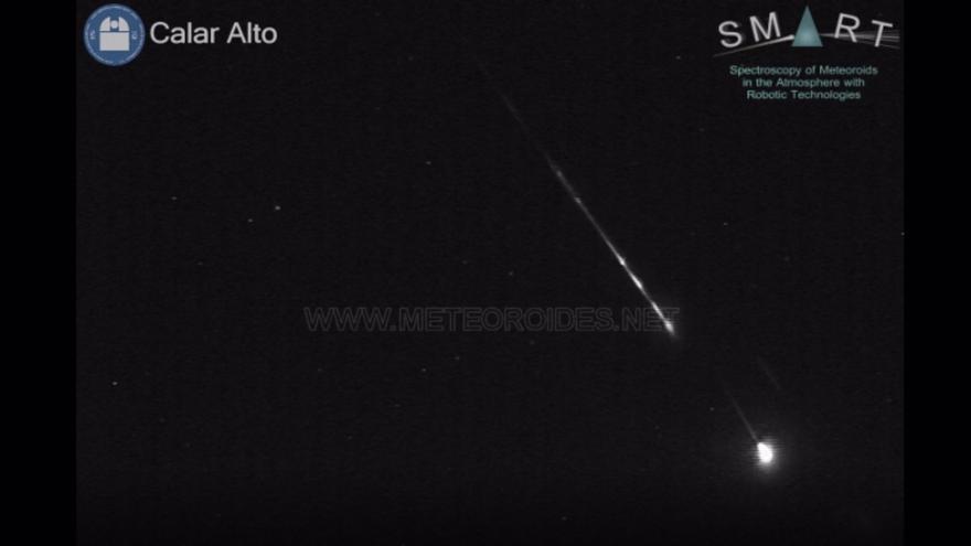 Descubren una bola de fuego que sobrevoló España a 100.000 km/hora