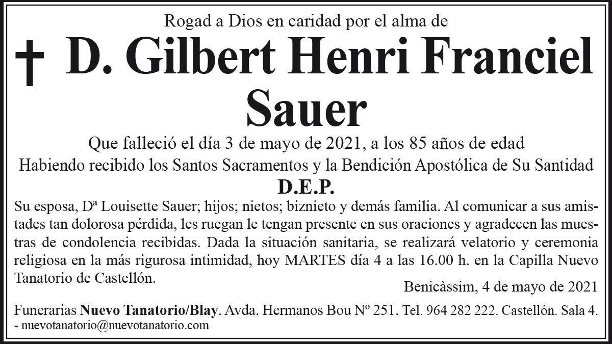 D. Gilbert Henri Franciel Sauer