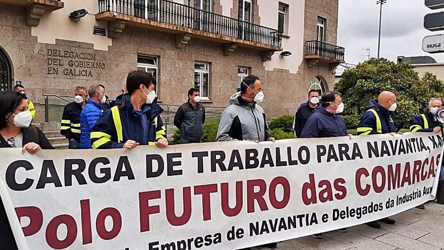 """Trabajadores de Navantia exigen al Gobierno carga de trabajo ante una situación """"crítica"""""""