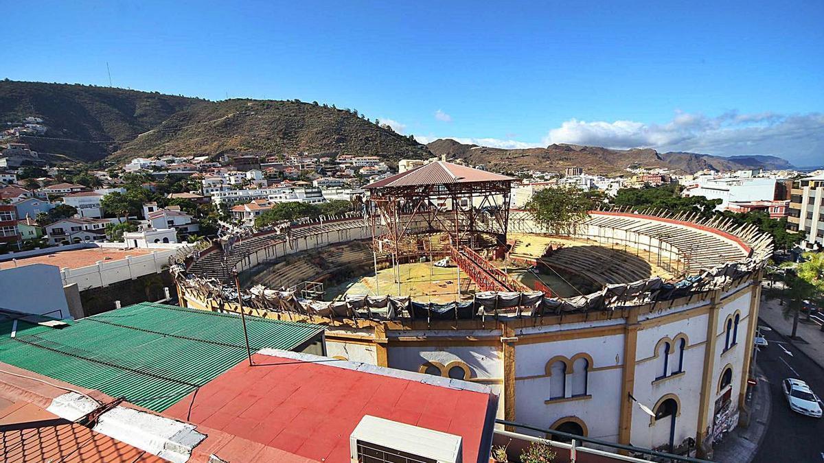 Plaza de Toros, situada en el barrio de Los Hoteles.