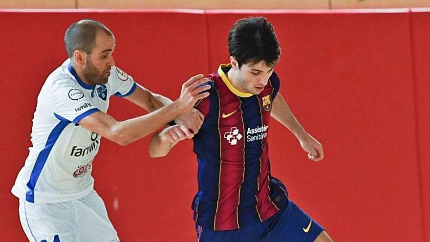 """El Barça """"B"""" aprovecha su condición como local y doblega al Alzira FS"""