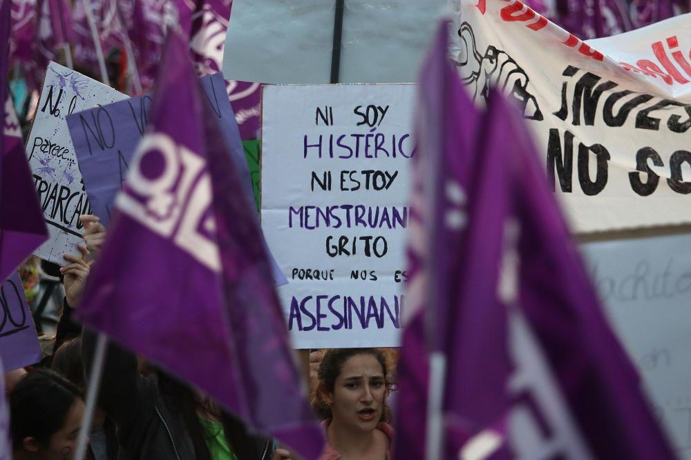 Manifestaciones por el 8M en Málaga