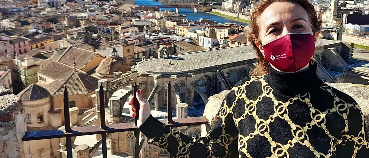 Estefanía Valdés, en Tortosa, el pasado domingo. | LNE