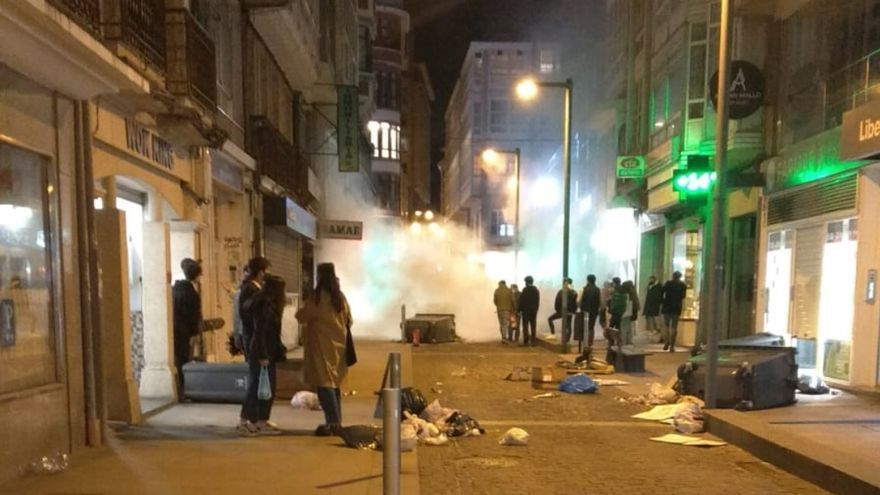 Disturbios en A Coruña en una protesta a favor de Pablo Hasél