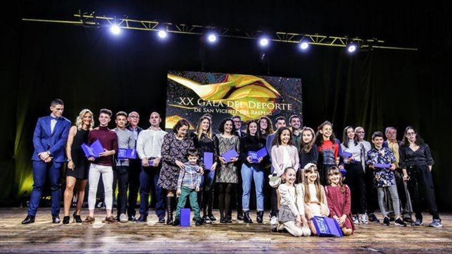 Conoce a los premiados de la XX Gala del Deporte de San Vicente 2020