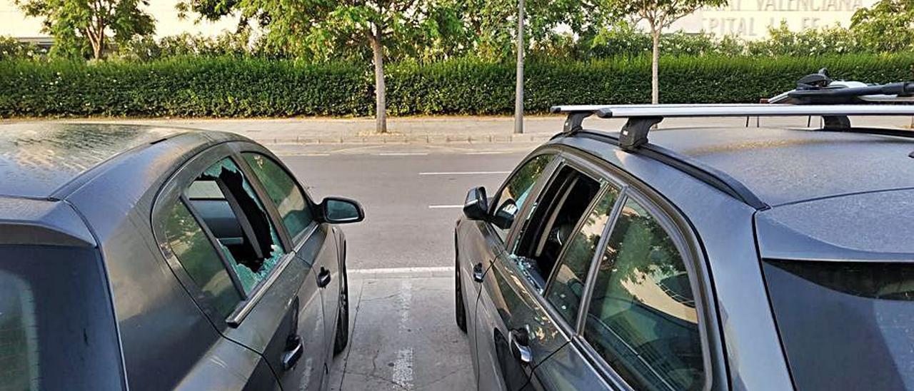 Continúan los robos en los vehículos aparcados junto al hospital La Fe