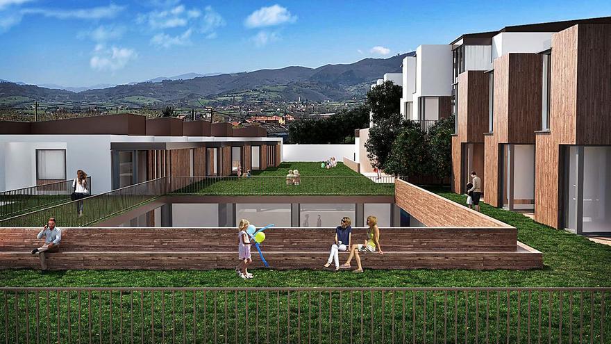 """La construcción del """"cohousing"""" de Caraviés podría iniciarse ya el próximo septiembre"""