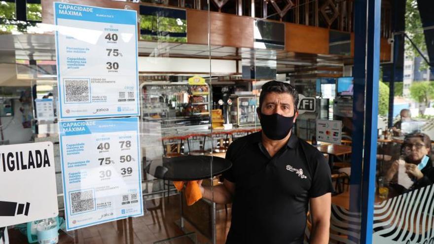 Tercer cambio en dos meses del cartel de aforos en la hostelería