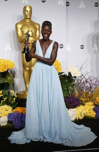 La ganadora del Oscar Lupita Nyongo'o.