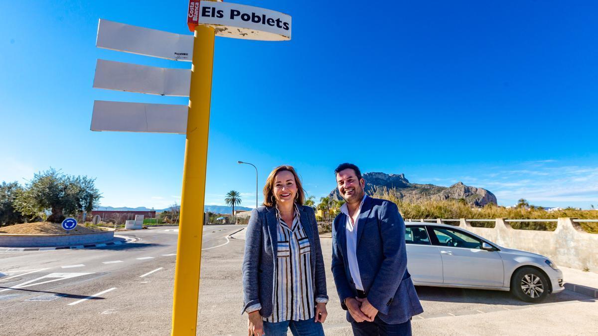 El alcalde de El Verger junto a su esposa y alcaldesa de Els Poblets, también vacunada