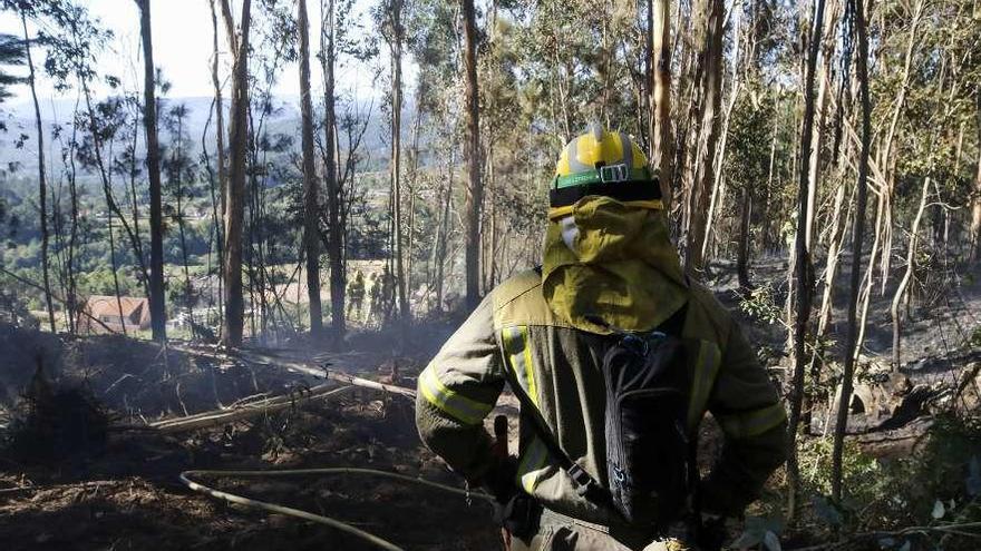 """Las investigaciones apuntan a """"gente de la zona"""" como autores del fuego de Mondariz"""
