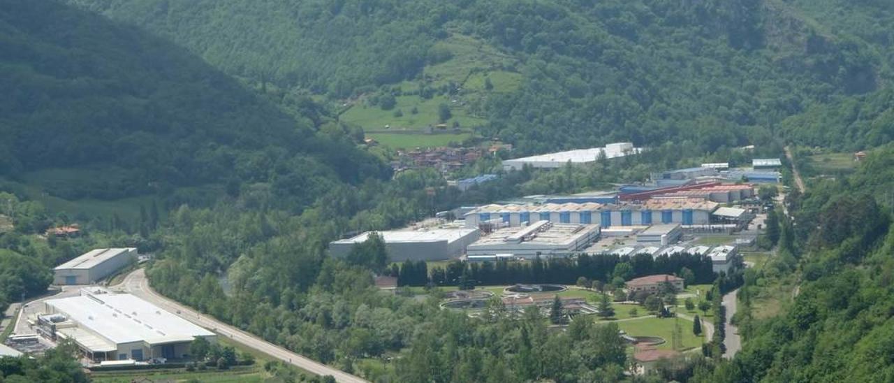 El polígono industrial de Baíña.
