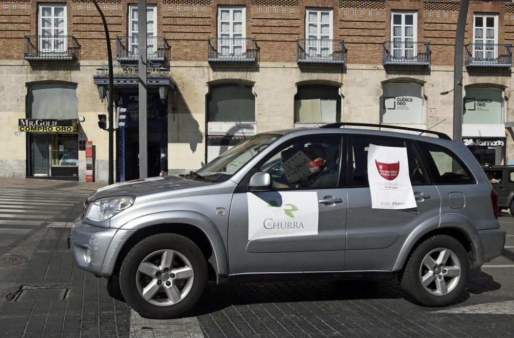Los hoteleros toman Murcia para protestar contra las medidas del Gobierno regional
