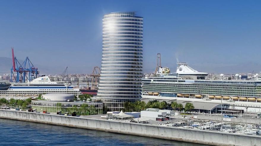 """El alcalde cree que el rascacielos del Puerto ha hecho esfuerzos por tener """"belleza y estética"""""""