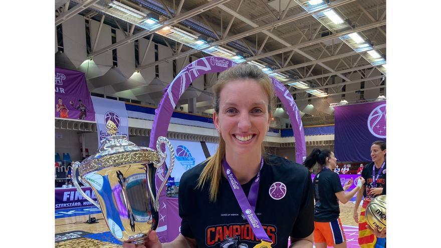 Laura Gil conquista con el Valencia Basket el segundo título europeo de clubes de su carrera