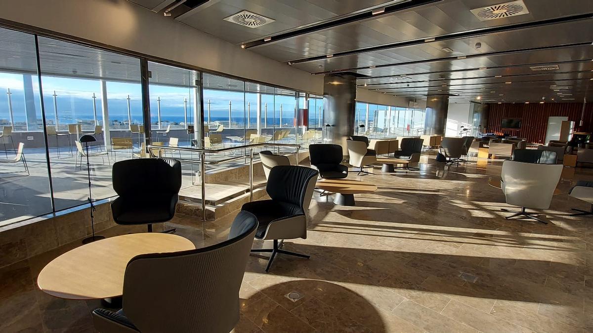 Nuevas instalaciones de la sala VIP del aeropuerto de Gran Canaria, en una imagen facilitada por Aena.