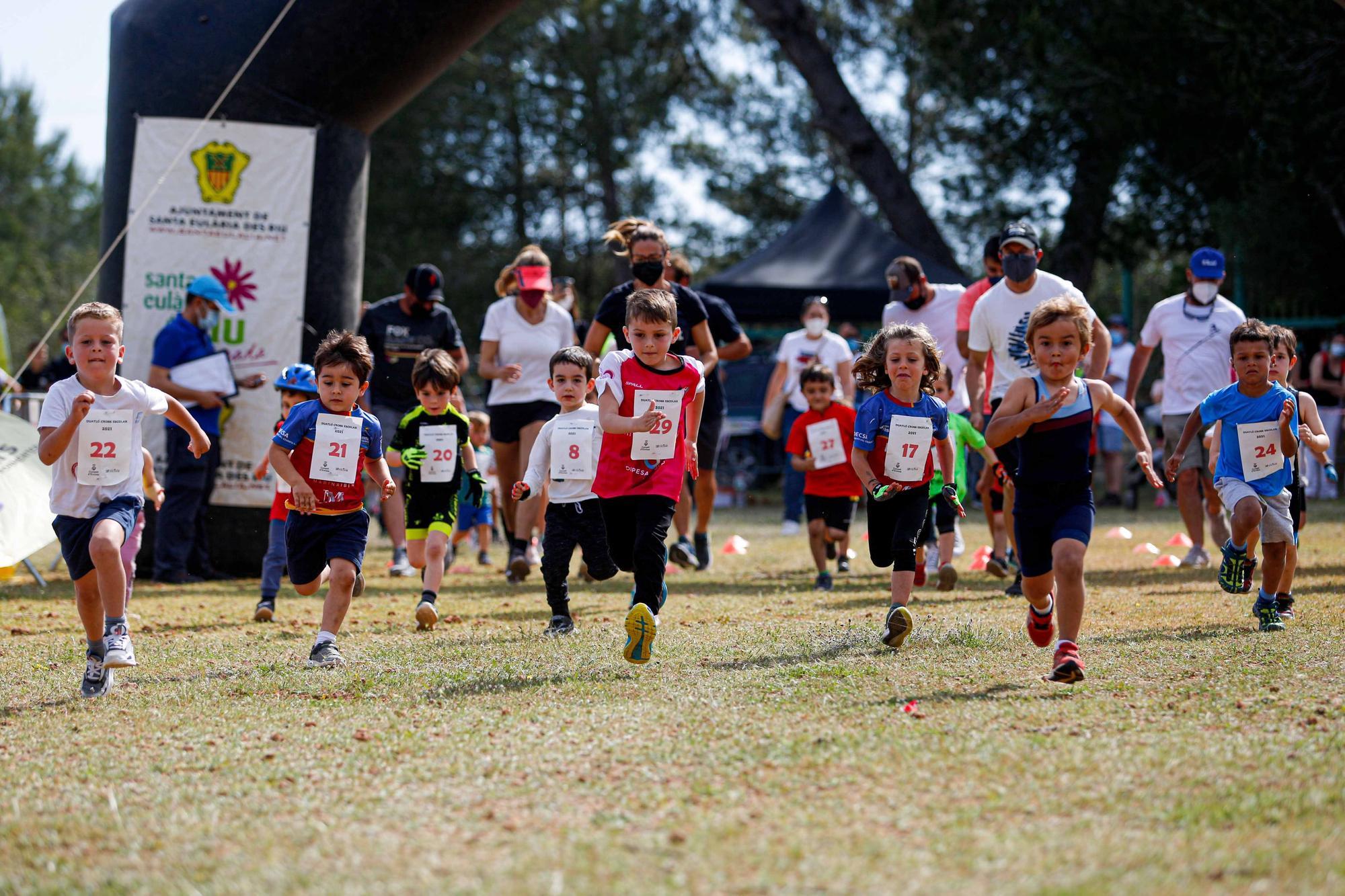 Éxito de participación en el Duatlón Cross de Can Truy con 90 niños