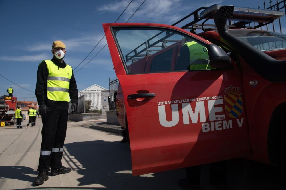 Así ha actuado la UME para la desinfección de las residencias de mayores en la provincia