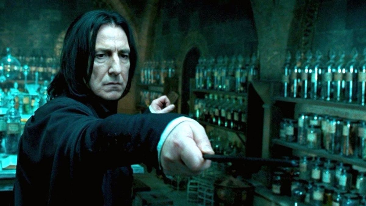 Alan Rickman como Severus Snape en Harry Potter.