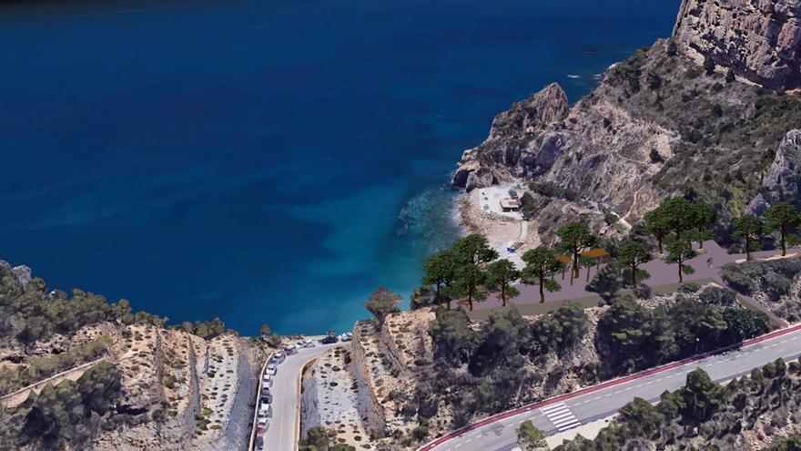 Benitatxell creará un mirador al Moraig y una zona de descanso en su ruta de los acantilados