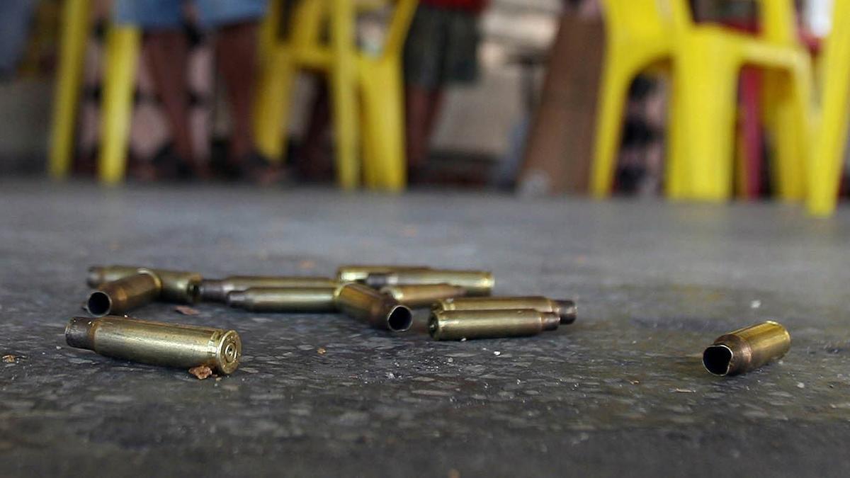 Casquillos de bala.