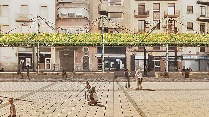 Una pérgola coruñesa en Tarragona