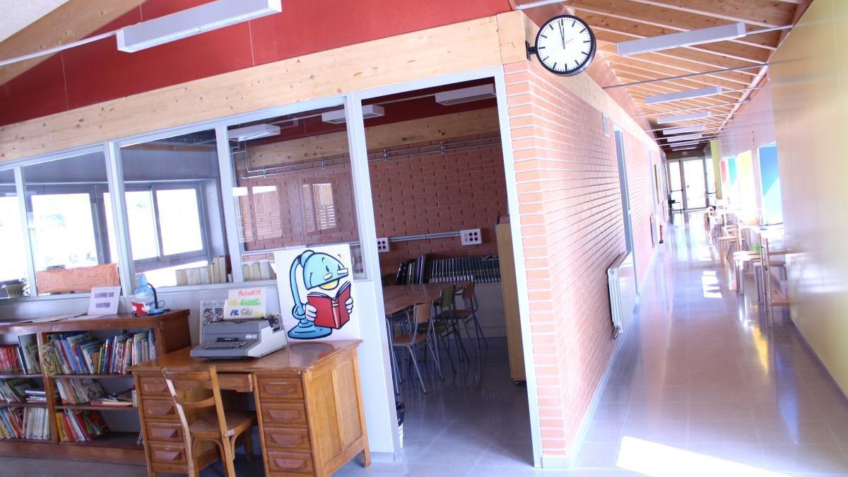 Interior de l'escola de l'Estany, que forma part de la ZER del Moianès