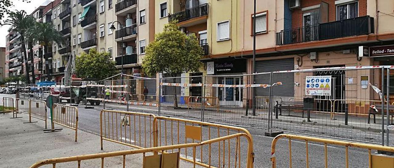 Obras en la calle Trafalgar de Quart. | A. Q.