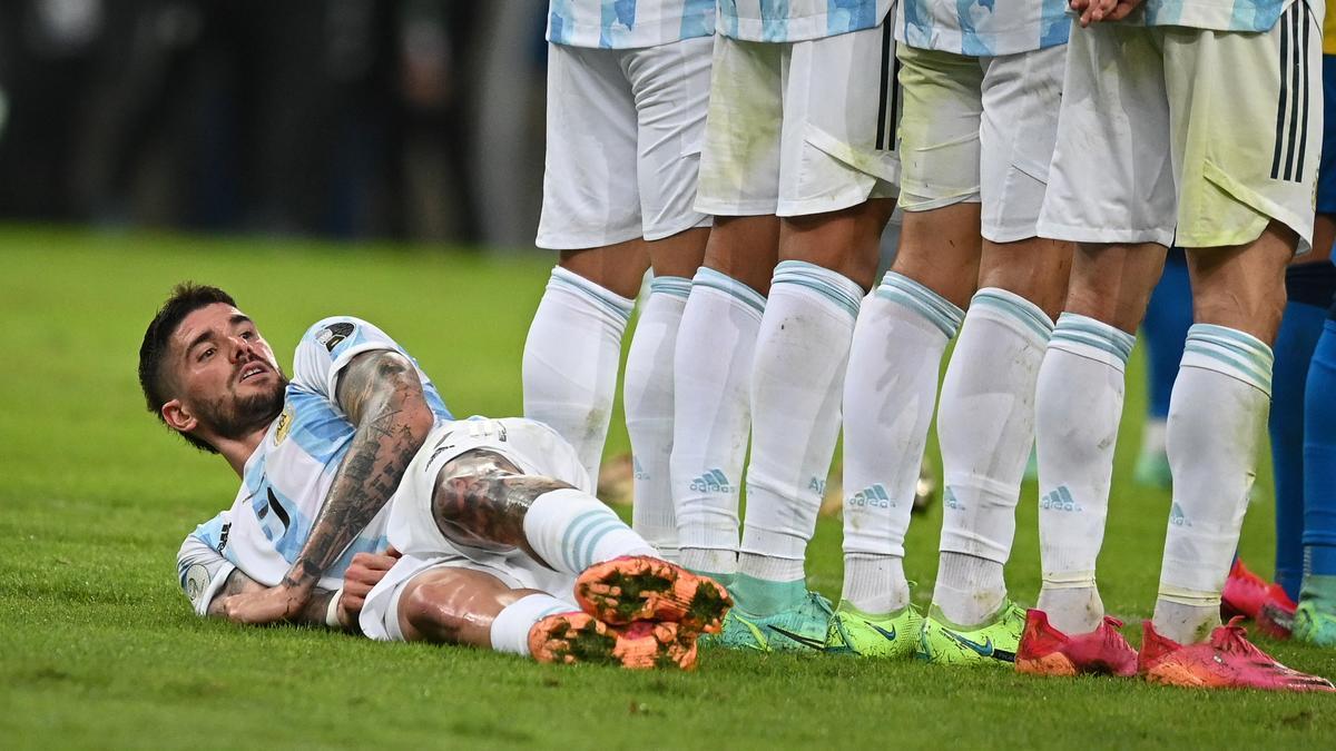 Rodrigo de Paul, en la final de la Copa América