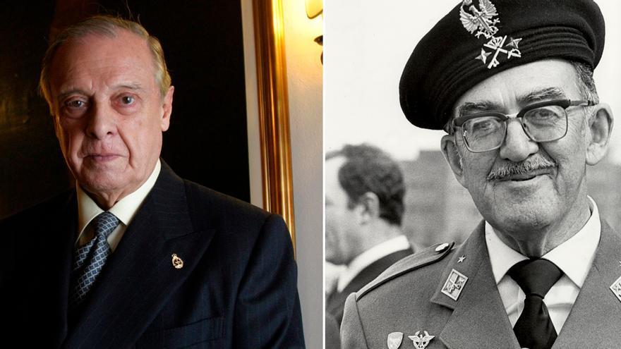 Sabino Fernández Campo y el general José Juste.   LNE