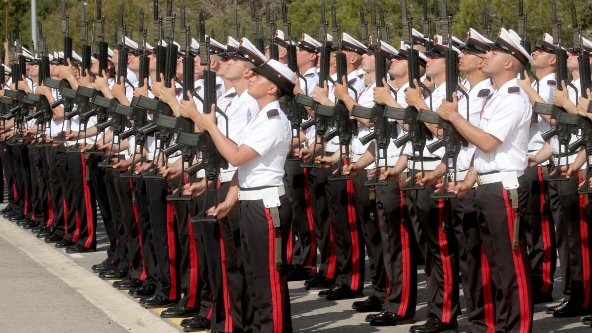 Alumnos de la Escuela de Infantería de Marina en una foto de archivo.