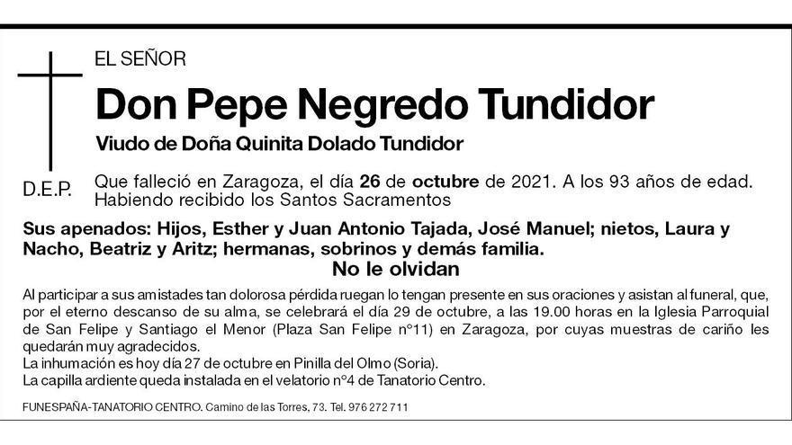 Pepe Negredo Tundidor