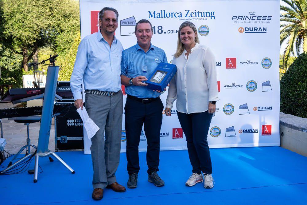 Die Preisverleihung beim MZ-Golfturnier 2019
