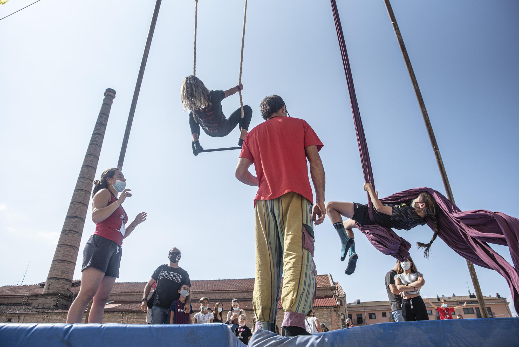 Espectacle de circ al Festivalet de Manresa