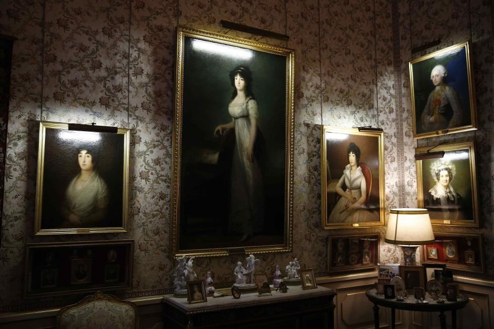 Las estancias del palacio de Liria.