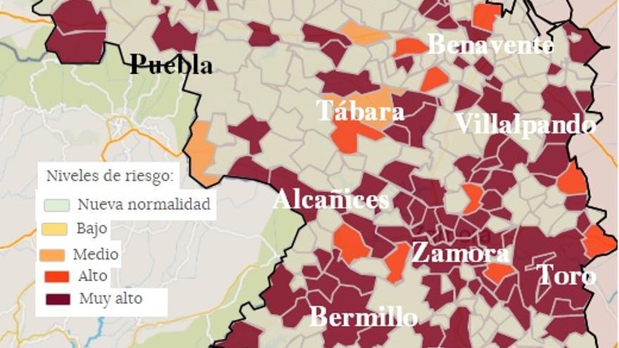 Mapa coronavirus Zamora | La capital supera la incidencia de los mil casos COVID