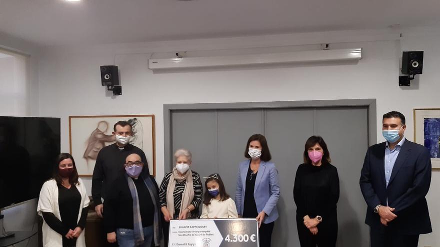 Smurtfit Kappa dona 4.300€ al Economato Social de Quart