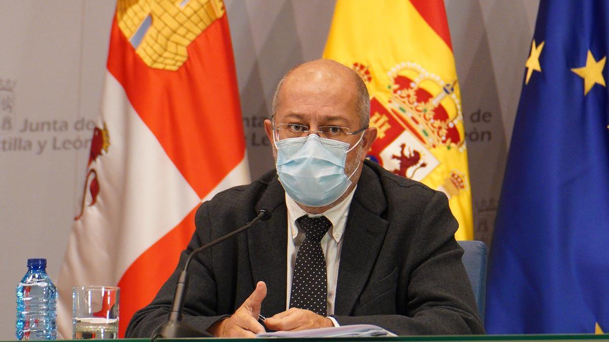 El vicepresidente Igea durante una comparecencia pública.