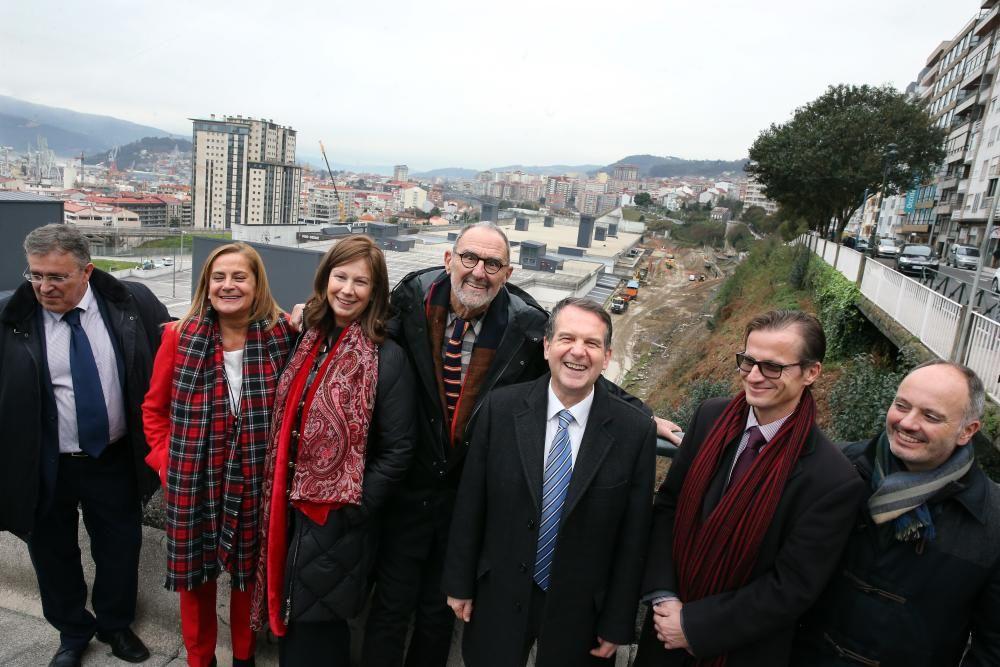 Mayne y Caballero revisaron las obras del proyecto de Urzáiz
