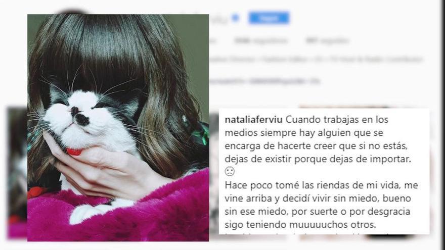 Natalia Ferviú lanza un esclarecedor mensaje tras abandonar 'Cámbiame'