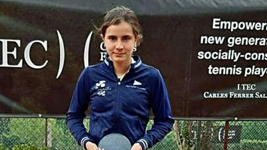 Tenis: La asturiana Eugenia Menéndez Zozaya, vencedora de la I TEC Cup sin perder un set