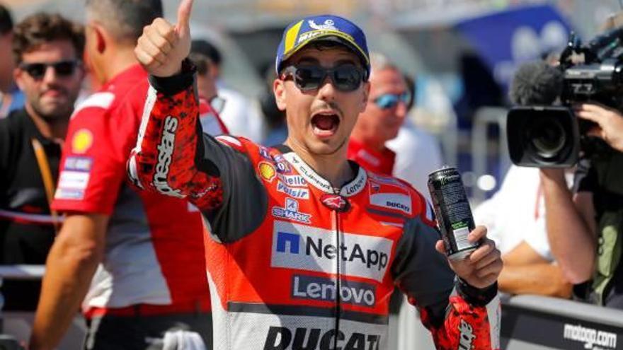 Lorenzo i Ducati treuen la «pole» a Márquez a l'Aragó